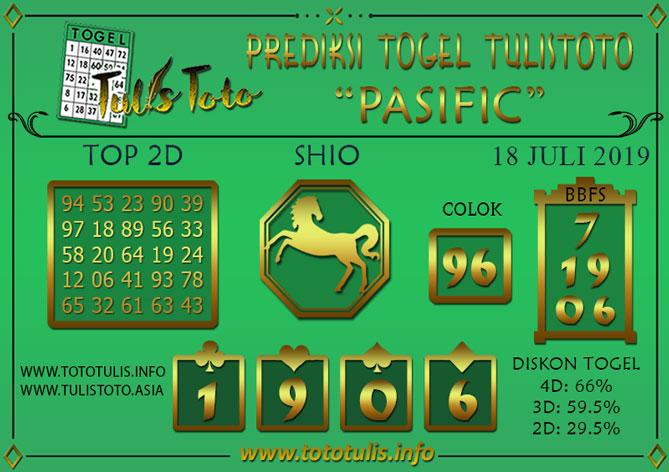 Prediksi Togel PASIFIC TULISTOTO 18 JULI 2019
