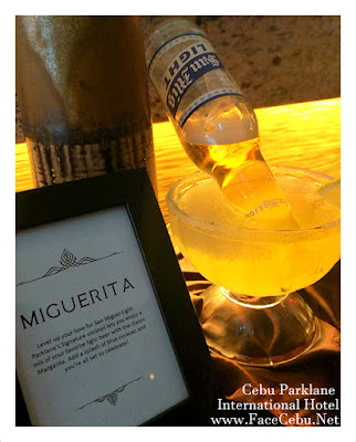 Cebu Parklane International Hotel Tea-based Cocktails: Miguerita