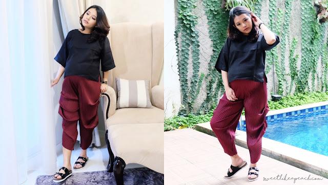 tips fashion style untuk perut buncit atau hamil ala fashion blogger indonesia