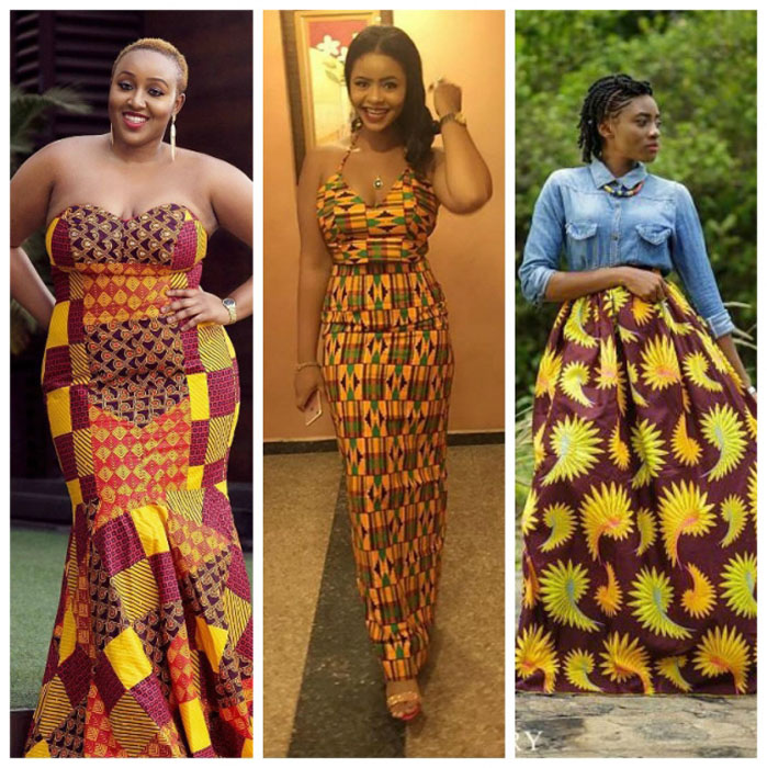 African-Off-Shoulder-Gowns=
