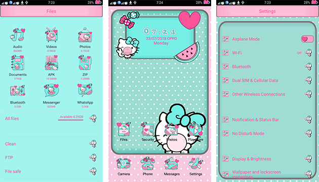 Oppo Themes: Oppo Gummy Kitty Themes
