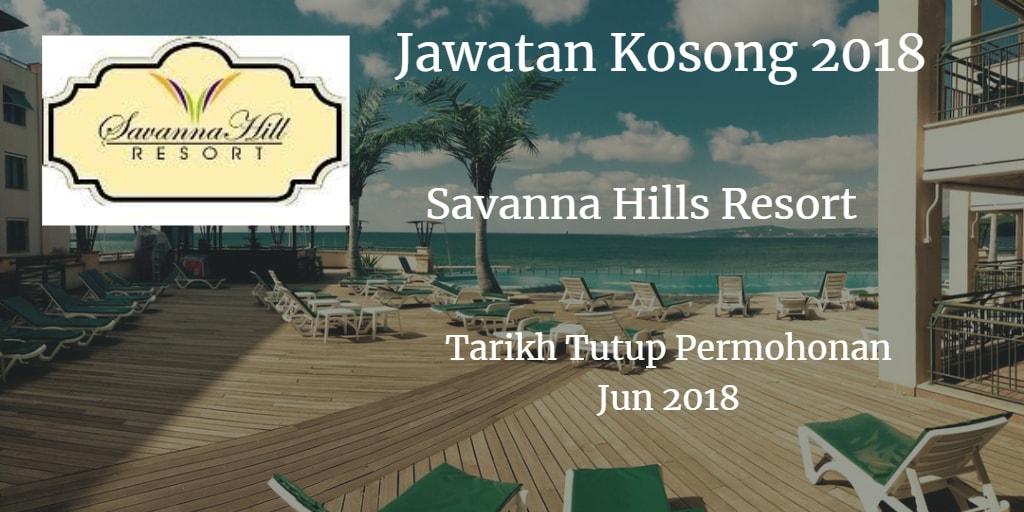 Jawatan Kosong SAVANNA MANAGEMENT SDN BHD Jun 2018