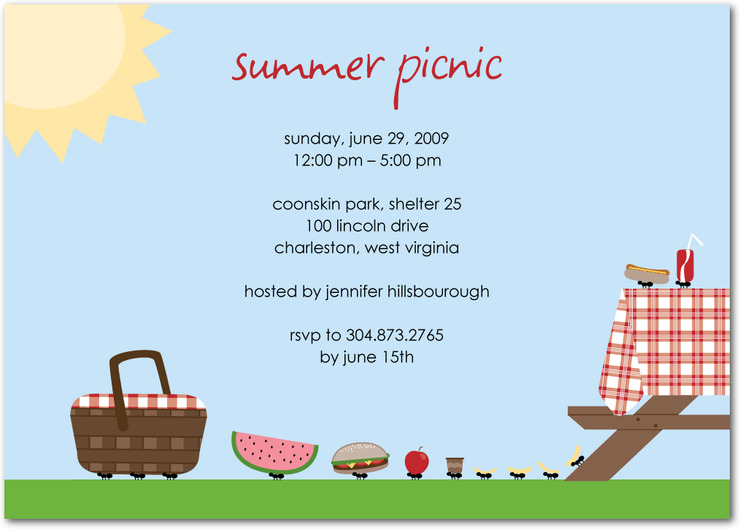 picnic party picnic party invitations