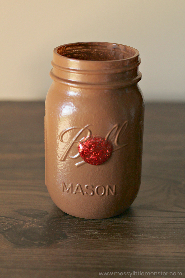 reindeer painted mason jars - christmas crafts for kids