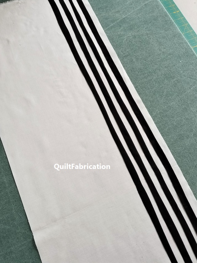 placing black stripes on white