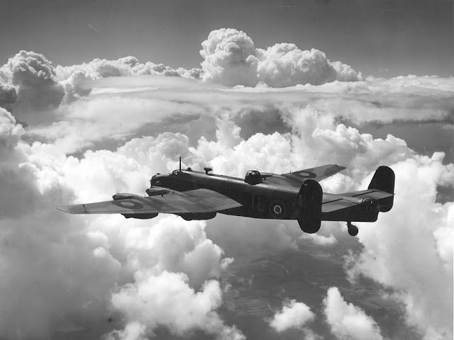 25 October 1939 worldwartwo.filminspector.com Handley Page Halifax bomber RAF
