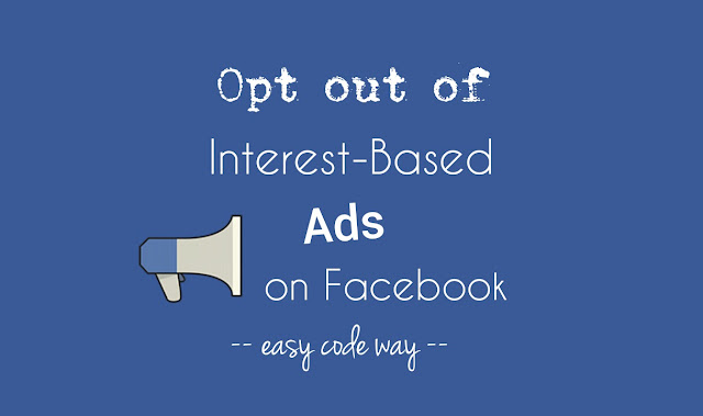 Opt out of interest-based ads on Facebook