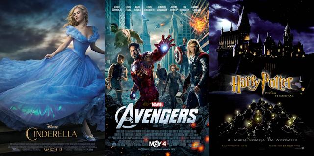 Enredo: Cinderela, Os Vingadores, Harry Potter e a Pedra Filosofal