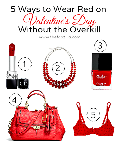 5 Ways To Wear Red On Valentine's Day Without The Overkill
