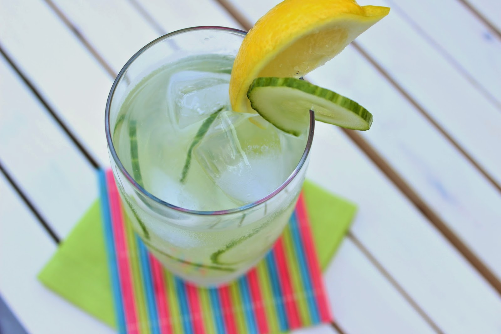 Treat Mom to Low-Calorie Cocktails & Mocktails for Mother's Day! - Cucumber Cocktail via ProductReviewMom.com