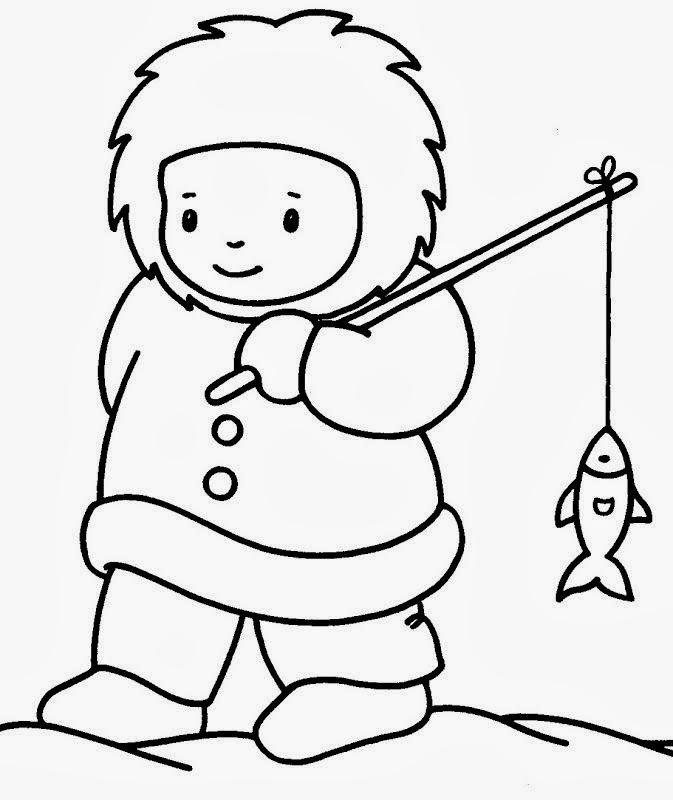 Maestra de Primaria: Dibujos de esquimales para colorear o imprimir ...