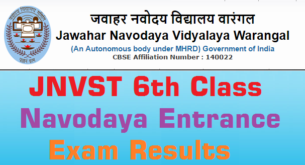 Warangal,Navodaya Entrance Test,Results 2016