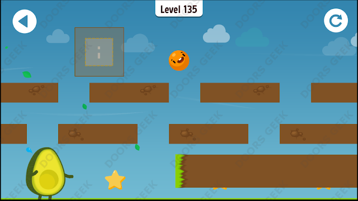 Where's My Avocado? Level 135 Solution, Cheats, Walkthrough, 3 Stars for Android, iPhone, iPad and iPod