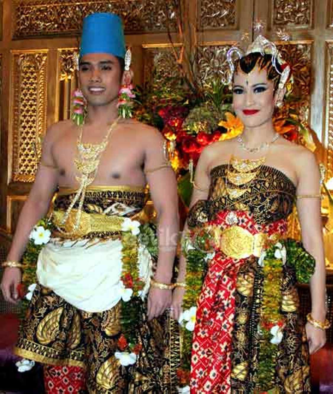 Baju Jawa Muslim Voal Motif