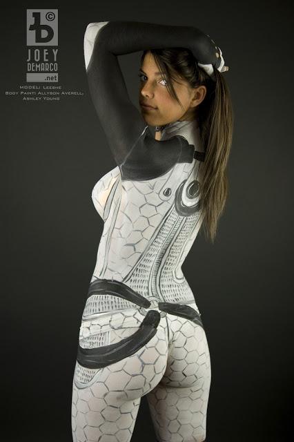 mass effect costume body paint lawson