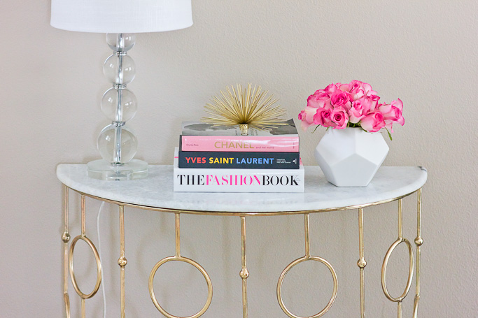 Home Decor, Gold Accents, Marble console Table | Stylish Petite