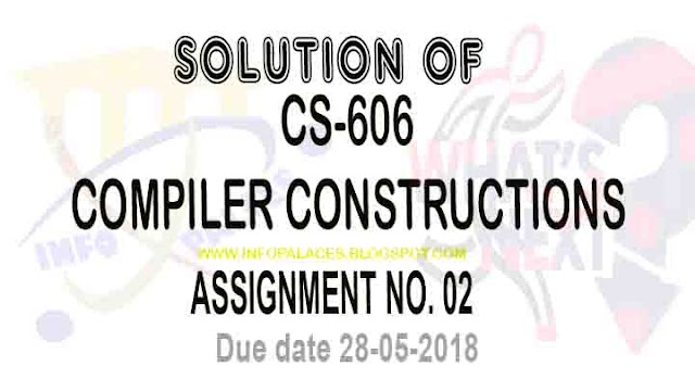 CS606 Assignment NO 2 Spring 2018 Solution