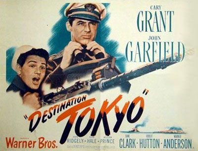 Destino Tokyo | 1943 | Destination Tokyo, cartel de cine