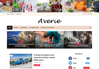 Averie Blogger Template 2019 Free Download Blogger Templates