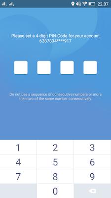 membuat pin di aplikasi WON Android