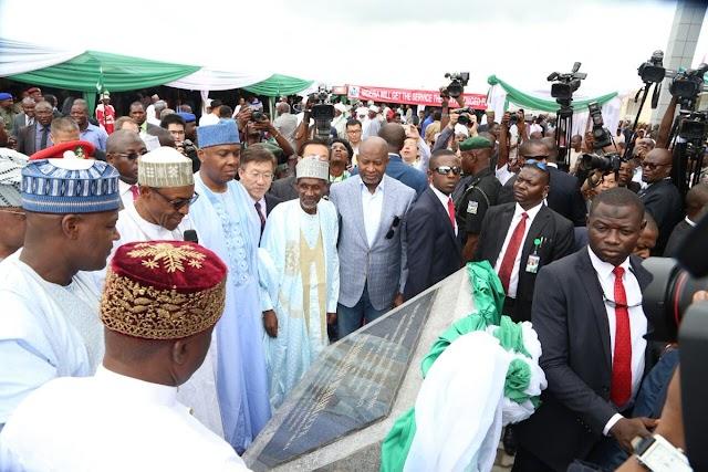 Buhari Commissions Abuja-Kaduna Railway (Photos)