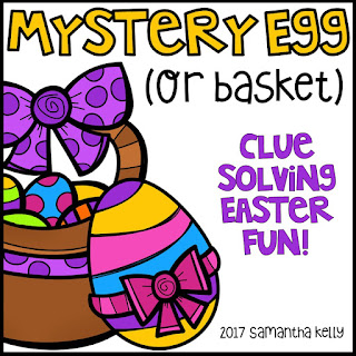 Mrs kellys klass mystery egg easter clue solving fun super easy all you need to do is hide a whole group activity inside a large easter egg or an easter basket if you cant find an egg some ideas of what negle Gallery
