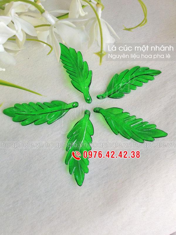 Lá cúc xanh một nhánh - Nguyên liệu hoa pha lê
