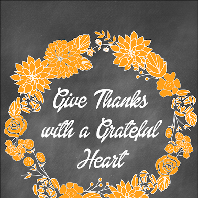 Thanksgiving | Free Give Thanks Printable Art