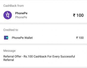 PhonePe – Earn Rs  7500 Money in Bank (Rs 75 Per Refer