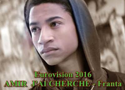 Eurovision 2016 Biografia AMIR J'AI CHERCHE France