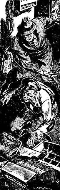 Dime Detective June 1943 - Bull Luck - Will Johnson - illustration by Carl Pfeufer