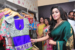 Actress Poorna Latest Pictures in Green Saree at SR Fashion Studio Launch  0014.jpg