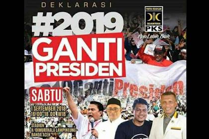 Deklarasi #2019GantiPresiden di Aceh Batal, Tak Beri Izin Oleh Polisi