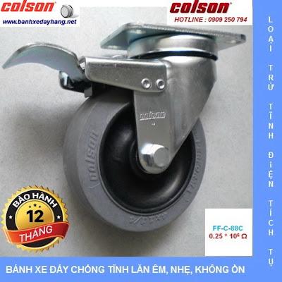Báo giá bán bánh xe đẩy cao su chống tĩnh điện Colson Mỹ banhxedaycolson.com