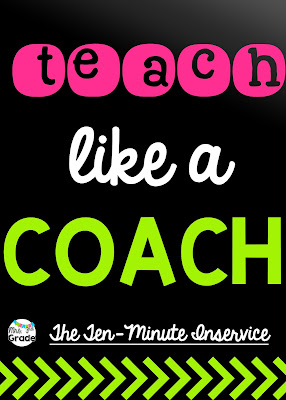 Teaching like a COACH is a great way to keep your students excited and on their toes during the school day!