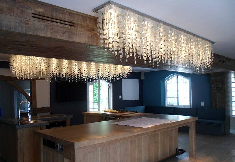 Unique Light Fixtures, Recycled Glass, Wood & Clay Beads