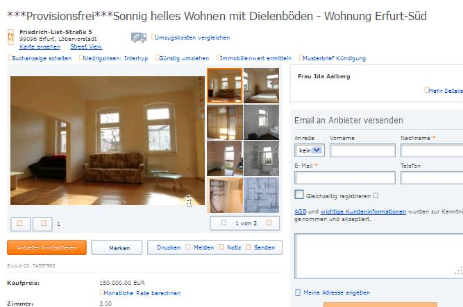 Wohnung Erfurt Balkon
