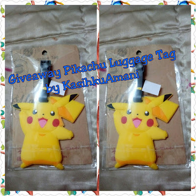 Giveaway Pikachu Luggage Tag by KasihkuAmani