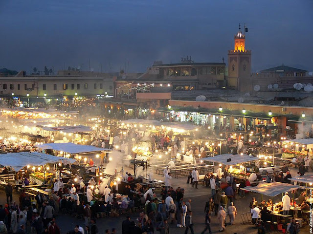 The Jemaa el fna - Marrakech