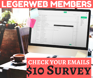 Legerweb Members - Check Your Emails For $10 Survey