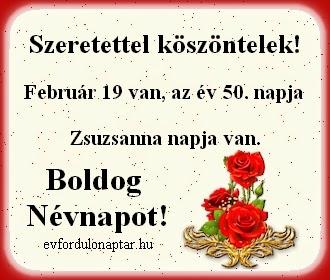 Február 19, Zsuzsanna névnap