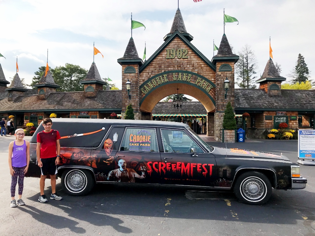 it was a beautiful fall day and the perfect day to go to canobie lake park it is great to go there at this time of year as the weather is great