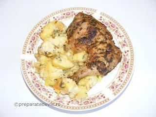 Friptura de pui cu cartofi taranesti reteta,