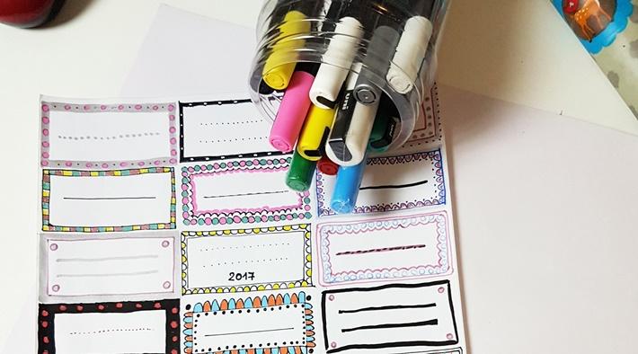 abloesbare Etiketten mit Stiften gestalten