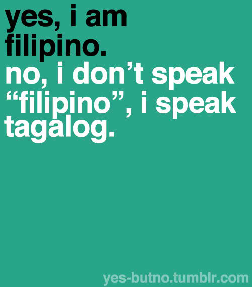 One Road; One Chance: Is it proper to use Tagalog?