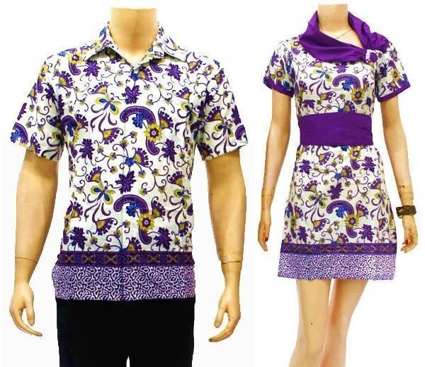 Desain Model Baju Batik Pria Dan Wanita Modern Terbaru