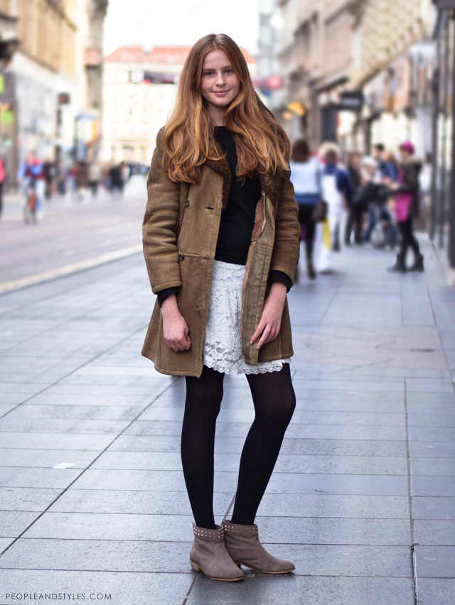 Laura Bračun, latest street winter 2014 fashion,