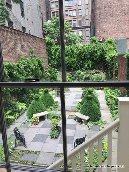 back yard at Merchant's House Museum in NYC