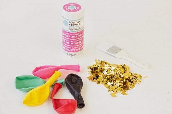 DIY Confetti Dipped Balloons, Balloons, DIY
