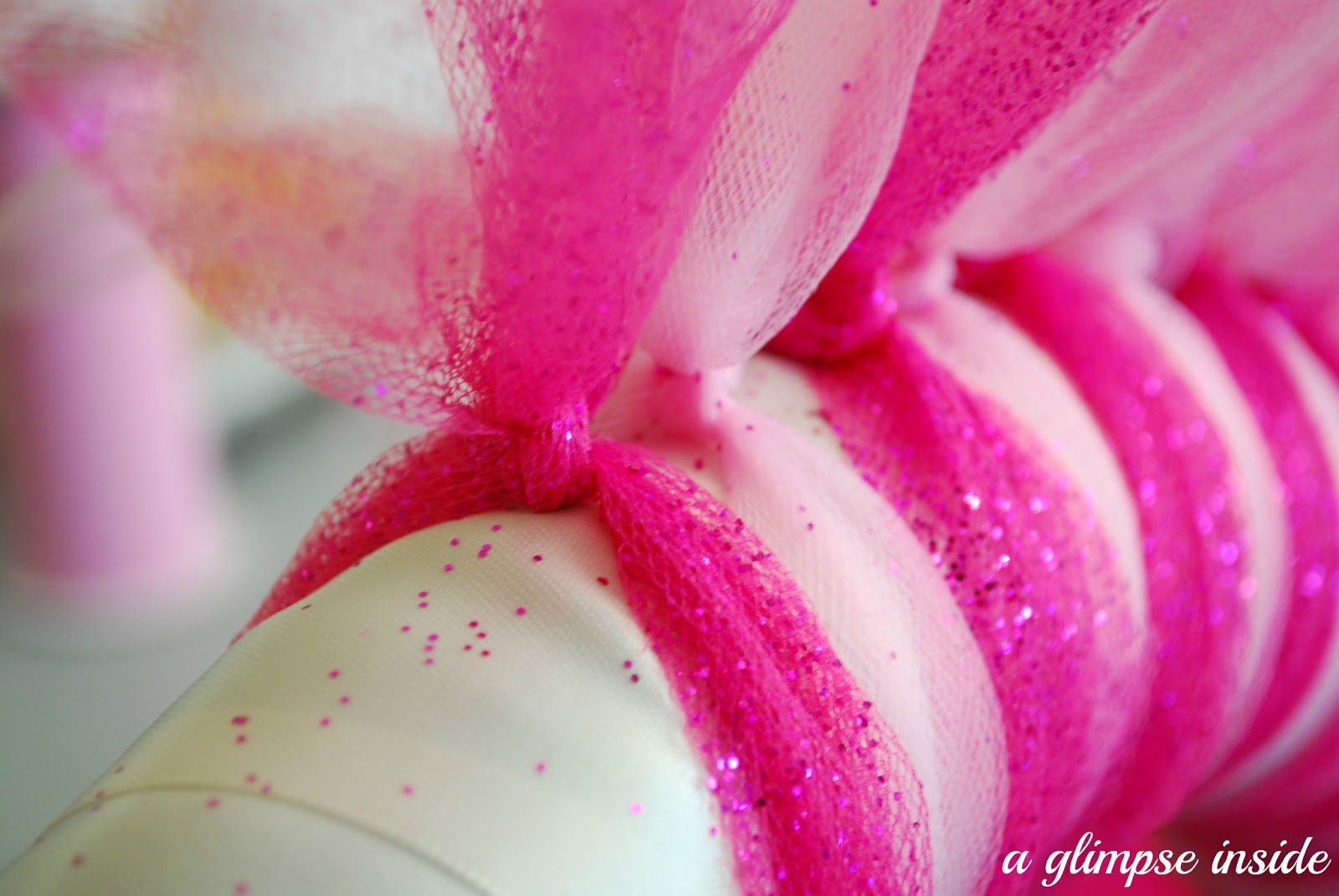 How To Cover Letters With Tulle